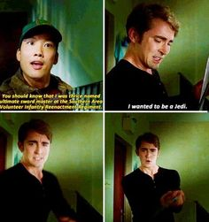 """Pushing Daisies """" Fun in Funeral """" ( 1x03 ) - Ned and Woodfrow - """"I wanted to be a Jedi"""""""