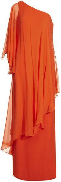 One-Shoulder Kaftan Gown