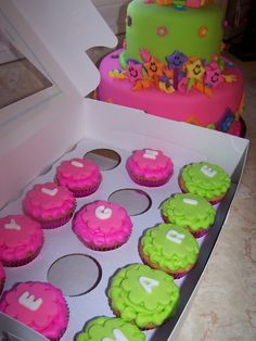 Dora cupcakes colors