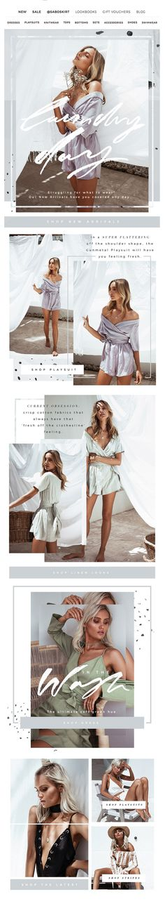 Free people email newsletter design
