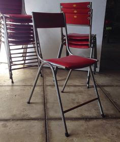cafechairs: FACTORY CANTEEN 10 vintage 1960s stacking cafe chairs MEL SYD SOLD