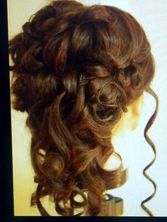 Practice Victorian wedding hair by Linda