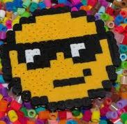 cool smiley face made out of perler beads