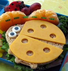 Cute Ladybug Kids Lunch...who wants a Lunchables?  LINK: http://hoosierhomemade.com/back-to-school-pack-a-special-lunch/?_szp=412883
