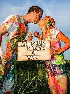 Paint war engagement