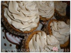 Carmel cupcakes with Carmel Frosting