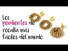 😱😍► Hacer los pendientes de rocallas más fáciles del mundo #169 - YouTube Handmade Wire Jewelry, Beaded Jewelry Designs, Diy Crafts Jewelry, Bead Jewellery, Earrings Handmade, Crochet Earrings Pattern, Beaded Necklace Patterns, Jewelry Making Tutorials, Beading Tutorials