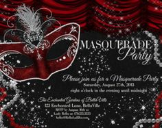 Masquerade Invitations Party Mardi Gras