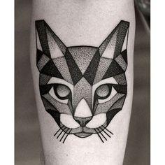 awesome Geometric Tattoo - Done by @kamilczapiga #whichinkilike #linework #blackwork #blackandwhite #tattoo...