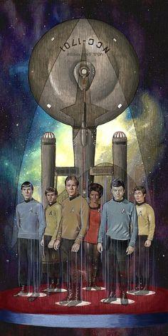More new art! Star Trek piece titled, Beam Us. Star Wars, Star Trek Tos, Star Trek Tv Series, Star Trek Original Series, Star Trek Starships, Star Trek Enterprise, Akira, Star Trek Wallpaper, Film Science Fiction