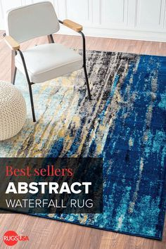 Bring in the marine theme and a beautiful vintage charm to your home with this 100 percent polypropylene, machine-woven, abstract waterfall rug. With beautiful colors from dark blue to cream, this rug is easy on pile, thickness and has a teal border trim that compliments the colors of the rug. Shop this abstract rug andhundreds of others at http://RugsUSA.com.