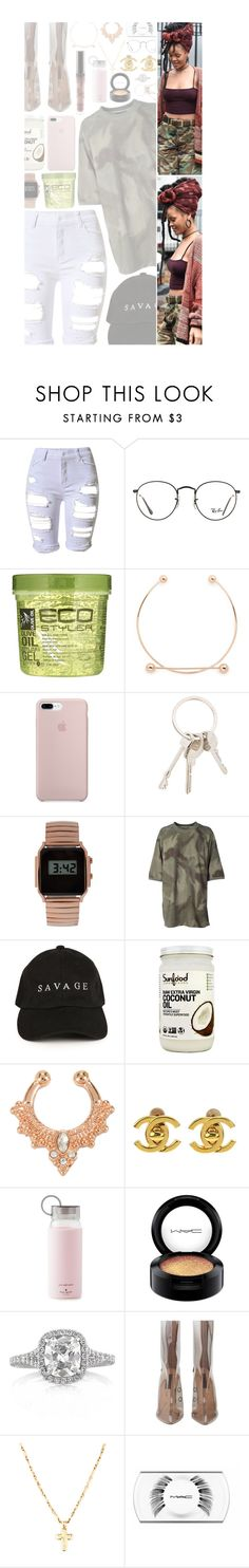"""✻ ""i been on a different type of time."""" by yungsl0b0 ❤ liked on Polyvore featuring Ray-Ban, Maria Black, Givenchy, ASOS, adidas Originals, Chanel, Kate Spade, MAC Cosmetics, Mark Broumand and pandoragotmegoin"
