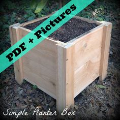 Diy Garden Planter Box Tutorial - Step By Step With Pictures (instant Download)