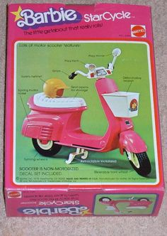 Barbie had to have her scooter.