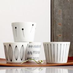 Grey Line Pattern Teacup Set. $39.90 at StarbucksStore.com