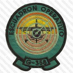 Parche de vuelo del Equipo Gavilán C358, actualmente dado de baja del servicio Air Force Patches, Dado, Badges, Patches, Strength, Military