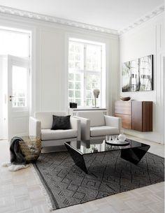 Osaka armchairs; Adria coffee table;
