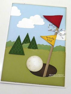 card for a golfer Birthday Cards For Him, Birthday Cards For Boys, Masculine Birthday Cards, Masculine Cards, Male Birthday, Boy Cards, Kids Cards, Cute Cards, Stampin Up Karten