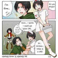 Read from the story *Ereri Short Dj by ItsMe_Me (_Kami-sama_👑) with reads. Levi X Eren, Levi Ackerman, Aot Funny, Nagisa And Karma, Fan Anime, Attack On Titan Ships, Im Back, Cute Anime Boy, Ereri
