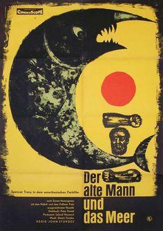 Werner Gottsmann – Affiche pour der alte Mann und das Meer (Le vieil homme et la mer), de John Sturges (1958)