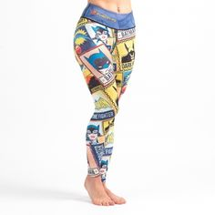 These Batman Crime Fighter leggings were designed to provide you with comic book-style camouflage, so that you can blend into your environment without being noticed. This will work especially well if your environment is inside a comic book, or perhaps a comic con? #batman #grappling #leggings #tights #spats #dccomics #superheroes #cosplay #crossfit #fitness #catwoman #bjj #yoga