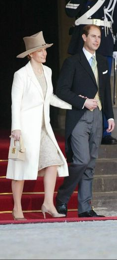 February 2, 2002 - Prince Edward & Sophie, Earl & Countess of Wessex at the wedding of Willem Alexander of Holland