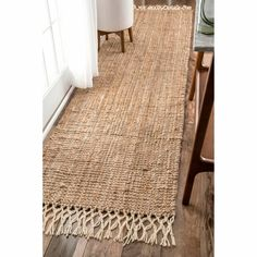 The Gray Barn Antelope Springs Chunky Jute and Wool Tassel Runner Rug - x (Natural), Size x Kitchen Runner, Kitchen Rug, Bathroom Runner Rug, Floors Kitchen, Kitchen Black, Kitchen Carpet, Kitchen Wood, Kitchen Modern, Kitchen Sink