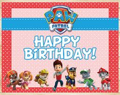 The perfect addition to your Paw Patrol Party - an Paw Patrol Birthday Sign! This Paw Patrol Birthday Sign is printable and digital, which means you'll Birthday Cards For Boys, 3rd Birthday Parties, Boy Birthday, Birthday Ideas, Paw Patrol Birthday Card, Paw Patrol Party, Paw Patrol Names, Paw Patrol Invitations, Making Ideas