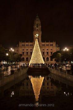 Christmas in Porto, Portugal ~ photo by Armando Tavares via FB