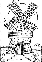Kids-n-fun | 18 coloring pages of Windmills
