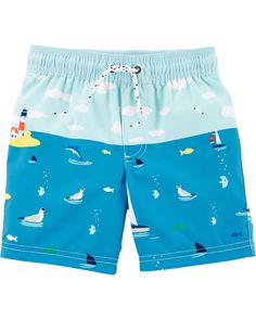 49728fbfd9f8b Baby Boy Carter's Sailboat Swim Trunks | Carters.com Carters Baby Boys,  Toddler Boys