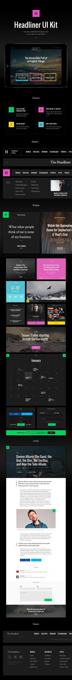 Headliner UI Kit by Great Simple on @creativemarket