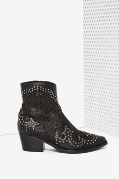 Jeffrey Campbell Paxton Perforated Leather Boots   Shop Shoes at Nasty Gal!