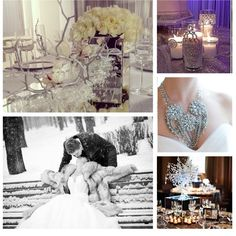 Winter Wedding Collage by Unison Event Planners, LLC
