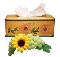 Sunflower Bathroom Tissue Box, Napkin Holder Sunflower Yellow