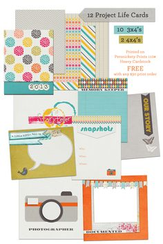 Gift w/ Purchase: 12 Free Project Life Journaling cards with print order