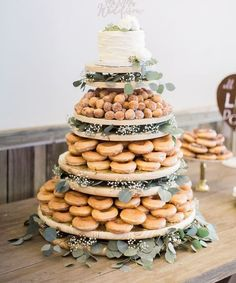 tendollarbuxcom weddingcakes weddingdecor wedding dessert display super sweet table ideas and 66 66 Super Sweet Wedding Dessert Display and Table Ideas You can find Sweets table wedding and more on our website Donut Wedding Cake, Wedding Donuts, Wedding Desserts, Wedding Cakes, Wedding Decorations, Wedding Cake Holders, Wedding Cake Display, Dessert Bar Wedding, Cupcake Display