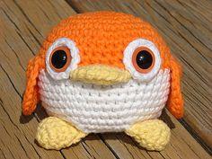 Adorable Orange Amigurumi Penguin by feathercrochet on Etsy, $10.00