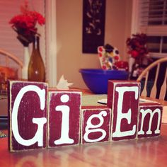 Everyday is a Blessing: Gig'em Blocks