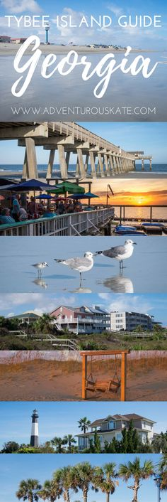 A complete guide to visiting Tybee Island; Savannah's ultimate beach destination. While Tybee Island makes for a perfect day trip from Savannah, it also warrants an entire trip on its own. Filled with wide, sandy beaches, friendly locals, and beautiful sunrises, this guide contains the best things to do on Tybee Island. Travel in Georgia. || Adventurous Kate: Solo Female Travel Blog #TybeeIsland #Savannah