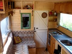 """I love the wood paneling here: Handmade Matt: Van conversion. From scratch to home on wheels. A Camper Van """"How can I make one of those?"""
