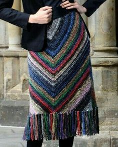 Women's Hand Knit Skirt Women's Hand Knit Skirt History of Knitting Wool spinning, weaving and sewing jobs such as BC. Black Crochet Dress, Crochet Skirts, Knit Skirt, Crochet Clothes, Knit Dress, Knit Crochet, Crochet Summer, Knitting Wool, Hand Knitting