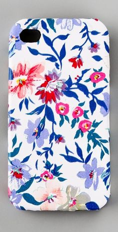 floral iphone 3 or 4 case from shopbop.com #gadgets #accessories #iphone