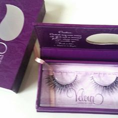 Velour Lashes Authentic. Never used. New with package. Velour Lashes in You Complete Me. These lashes are natural while adding thickness (especially to the outer corners) for a fuller lash look! Velour Lashes Makeup False Eyelashes