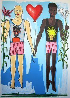 gay couple dancing kissing lovers happy homosexual men dance kiss two men  paintings