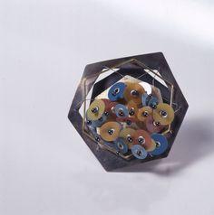Maria Rosa Franzin, brooch, SOFLEX 1999, Silver,gold, soflex