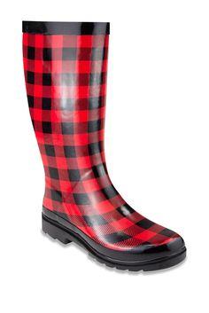 Cool Buffalo Plaid Moose Lumberjack Red Black Long Tight Thigh High Socks Over The Knee High Boot Stockings Leg Warmers