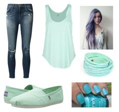 """green"" by nicklodenbrown ❤ liked on Polyvore featuring Rip Curl, J Brand and BOBS from Skechers"