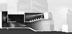 Barnsley Civic Annex long section by Zachary Rootes