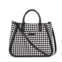 Trapeze Tote in Midnight Houndstooth with Black Trim   Vera Bradley HALF OFF TOMORROW (12/9) IN STORES!!! Adam Frenzel, lookie here!!